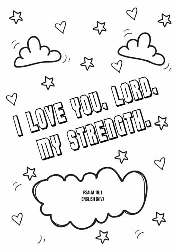 English Bible coloring sheet