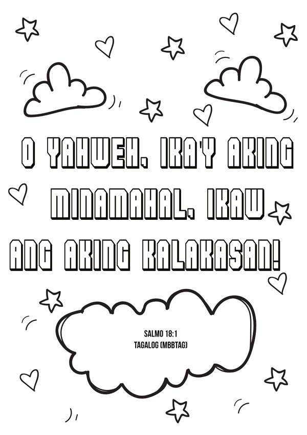 Tagalog Bible Coloring Sheet Filipino Childrens Bible Project